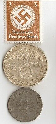-4-antique *WW2 -SILVER, STEEL  and  ZINK   - *us   and - *german coins/stamp++