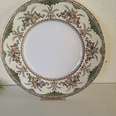 Minton Chatham green ivory dinner plate; 1930's