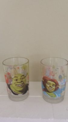 McDonald's Dreamworks Shrek The Third set of 2 collectible drinking glasses 2007