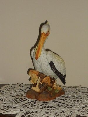 "Andrea by Sadek White Pelican Shore Bird 9.5"" Tall  #6058"