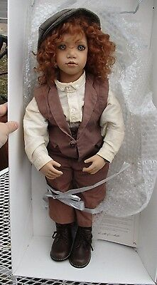 """Annette  Himstedt charly 23"""" puppen kinder/w/boxes-papers/phamphlet-Handsome!"""