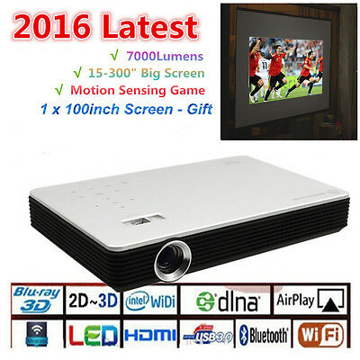10000:1 Android 7000Lumens Wifi Full HD Home Theater Multimedia 1080P Projector