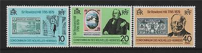 New Hebrides (French) 1979 Rowland Hill SG F285/7 MNH