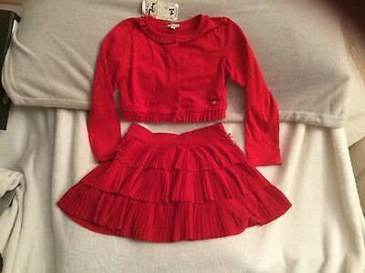 Mayoral age 9 134cm red twirly skirt outfit perfect christmas outfit
