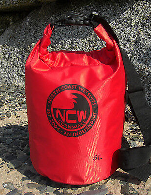 5L roll top dry bag 100% waterproof lightweight TOUGH RIPSTOP nylon with strap