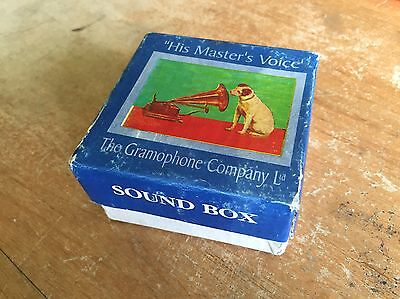 Vintage HIS MASTERS VOICE SOUND BOX Box - Reproducer Box - Empty