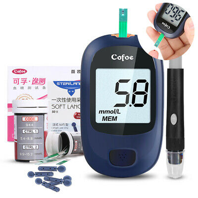 Intelligent medical Blood Glucose monitoring system meter 25 strips and Lancets