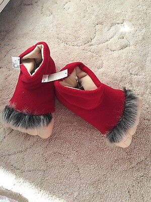 novelty Father Christmas foot slipper size 10 child BNWT