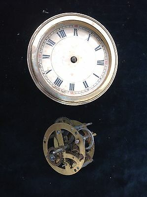 Two 30 Hour Timepiece German Clock Mechanisms For Parts Or Repair