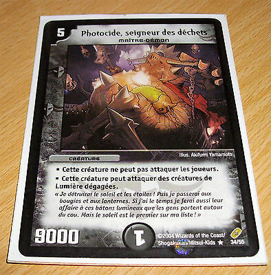 DUEL MASTERS - Rare - Photocide, Lord of the Wastes - VF - Power 9000- MINT