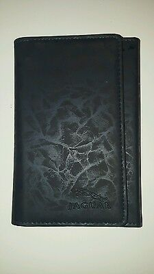 jaguar x-type owners manual and leather wallet 2001-2010 facelift black wallet