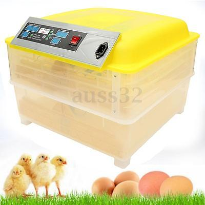 96 Digital Egg Incubator Hatcher Temperature Control Automatic Chicken Turning
