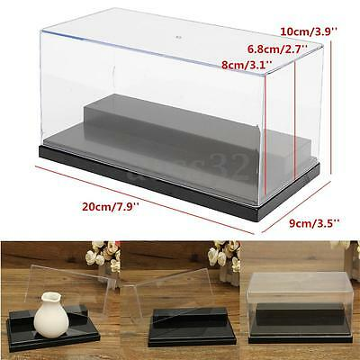 Acrylic Display Box Dustproof Protection 2 Steps Toy Show Case 7.9x3.5x3.9''