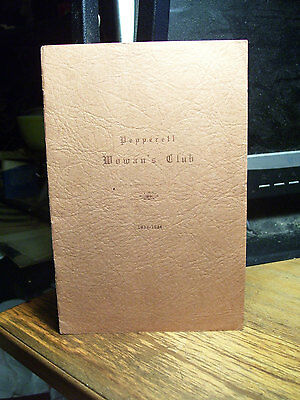 1933 Pepperell Mass Woman's Club Booklet
