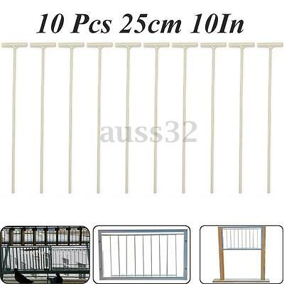 10pcs 25cm Racing Pigeon White Stainless Steel Entrance Wire Trap Door Curtain
