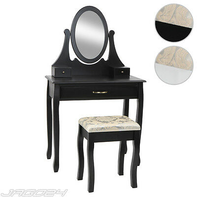 Dressing Table Country Style Secretary Makeup Desk 3 Drawers Swivel Mirror Stool