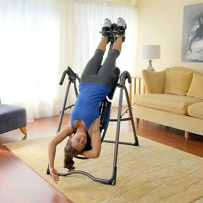 Back/Neck Pain Reduce Relief Exercise Bench Inversion Table New -136 KG