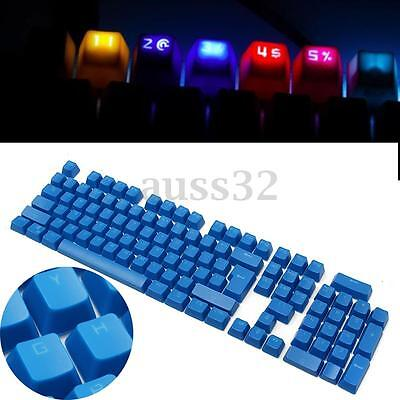 Blue Double Shot Translucent ABS Backlit 104 KeyCaps for Cherry MX Keyboard