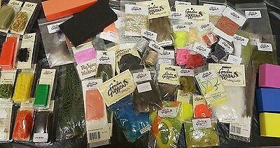 CLEARANCE - Gordon Griffiths Assorted Fly Tying Materials - 50 Items -Job Lot 19