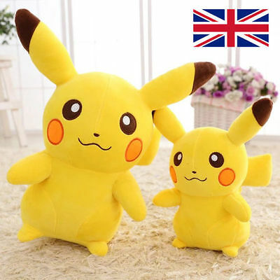 "Pikachu Plush Soft Toy Teddy 14"" 35cm Anime Pokemon Go Kids Nintendo Anime"