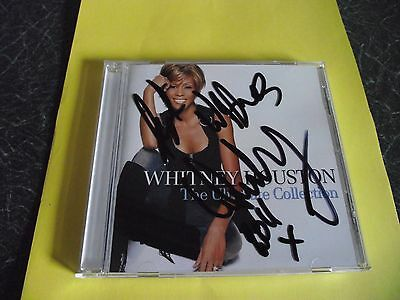 Authentic Whitney Houston Hand Signed Cd Ultimate Collection
