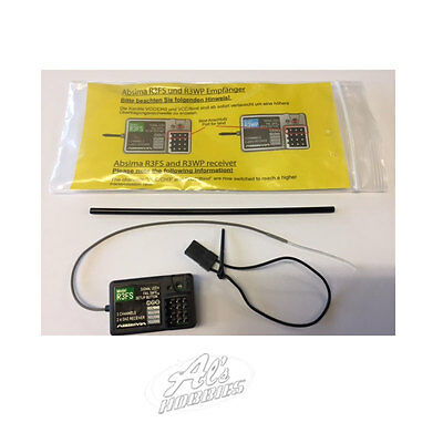 Absima R3FS 2.4 Ghz 3-Channel Surface Receiver 2020001 Uk Seller & Warranty
