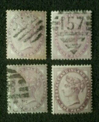 Item #7:   Queen Victoria Stamps Great Britain...one Penny...used..unused...