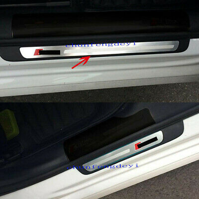 4pcs Stainless Steel Door Sill Plate Welcome Pedal For Audi A3 V8 2012 2013-2016