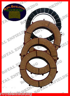2 X - New Royal Enfield Bullet 4 Clutch Plate Friction Kit