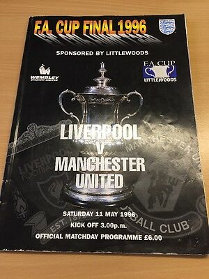 FA Cup Final 1996 Official Progamme Liverpool Vs Manchester United - LLD