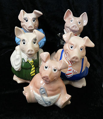 Wade Nat West Pigs Set of 5 Moneyboxes
