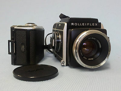 Rolleiflex SL66 Camera with Carl Zeiss 1:2.8 Planar  f=80mm Lens and extra back