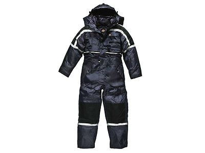 Dickies WP15000 NV L Navy Waterproof Padded Coverall Large