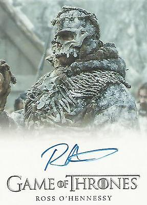 """Game of Thrones Season 5 - Ross O'Hennessy """"Lord of Bones"""" Autograph Card"""
