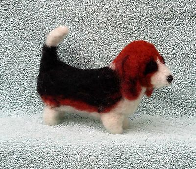 Needle felted  BASSET HOUND  One of a kind. OOAK