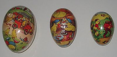 Set of 3 - Easter Eggs - Vintage (mid-20th Century) - Made in East Germany