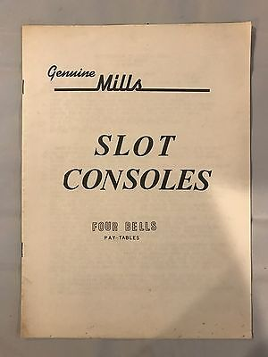 Genuine Mills Slot Consoles Four Bells Manual