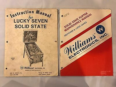 Williams Lucky Seven Pinball Instruction Manual and Maintenance Manual
