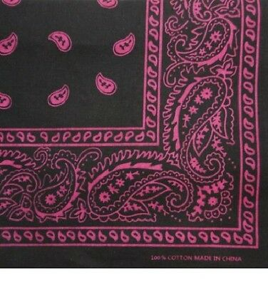 "Paisley Bandana 22 x 22 100% Cotton Select Your Color ""Brand New"""