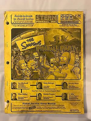 Stern The Simpsons Pinball Party Pinball Manual