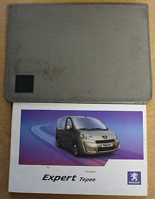 Peugeot Expert Tepee Owners Manual Handbook Wallet 2007-2012 Pack 13081