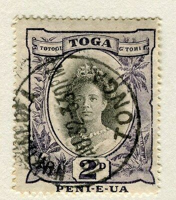 TONGA;  1920 early pictorial issue fine used 2d. value Postmark
