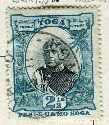 TONGA;  1897 early pictorial issue fine used 2.5d. value Postmark