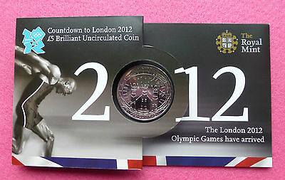 2012 Royal Mint Olympic Games Countdown  Five Pound £5 Bu  Coin - New