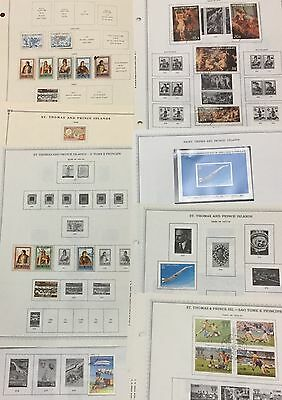 St. Thomas & Prince 1949/84 Lot Of 39 Stamps Mlh* & Used On 23 Pages Album Scott