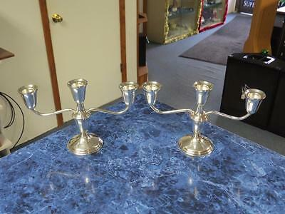 Pair of Vintage Empire Sterling Silver Weighted 3 Arm Candelabra (386) – Nice!