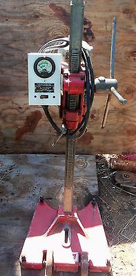 "Millwaukee Core Drill with stand and 8 diamond bits 1"" to 6"""