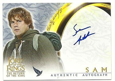 2003 Lord Of The Rings Rotk Sean Astin As Sam Autograph Card