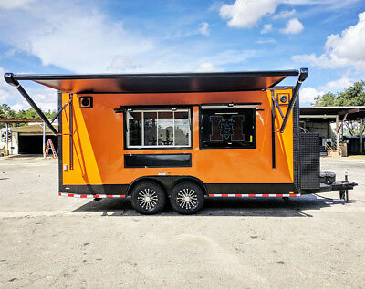 8.5X24 BBQ Concession Trailer with Smoker Installed