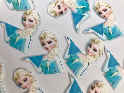 Disney Frozen Resin Craft for Bow Hair Clip ,Glue on 5 Pieces White Flat Back